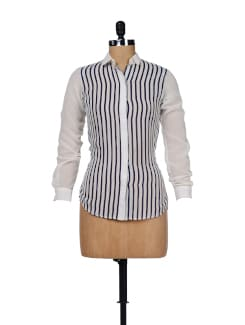 Classic White Striped Shirt - Besiva