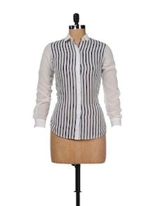 Classic White Striped Shirt - Besiva