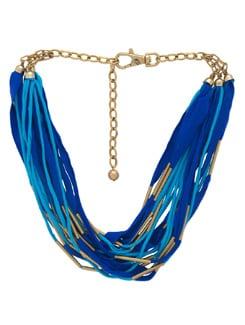 Electric Blue Multi Layered Necklace - Malaga