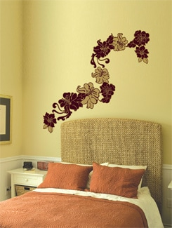Art Noveau Floral Wall Sticker - Home Decor Line