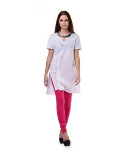Hot Pink Knit Churidar - Aurelia