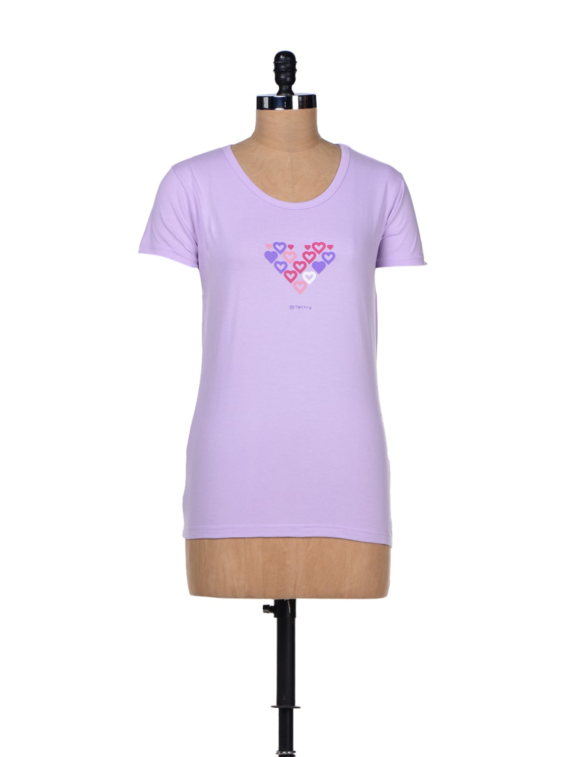 Hearts Print- Cotton T-shirt - TANTRA