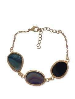 Blue & Gold Multi Onyx Bracelet - Ivory Tag