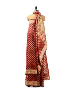 Colourful Benarasi Cotton Saree - Seasons By Surekha