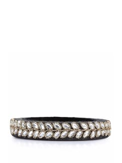 Mughal Era Bangle- Black - Mayabazaar