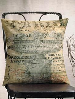 Paris Messages Print Cushion Cover - Veva's