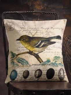 Bird Print Cushion Cover - Veva's