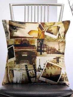 Love Paris Print Cushion Cover - Veva's