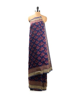 Contemporary Blue Benarasi Saree - Seasons By Surekha
