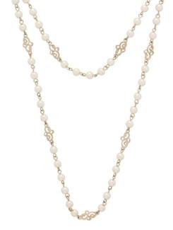Artful White & Gold Necklace - THE PARI