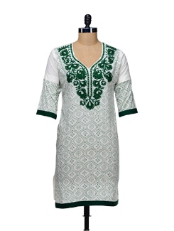 Woolen Embroidered Kurta - WILD WOMAN