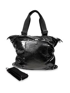 Black Leather Handbag - Bags By Just Women