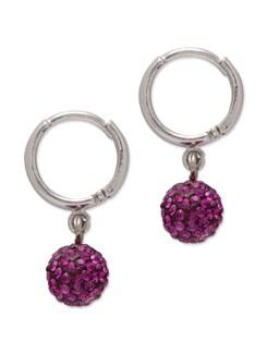 Trendy Pink & Silver Earrings - Mahi