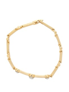 Gold Tri-Crystal Bracelet - Mahi