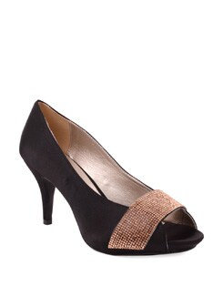 Elegant Black Peep Toes - Carlton London