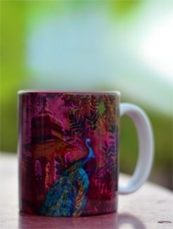 Royal Peacock Mug - India Circus