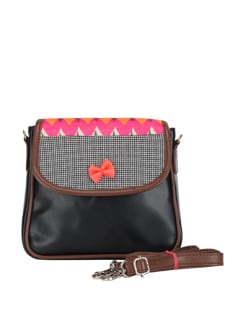 Neon Sling Bag With A Bow - DESI DRAMA QUEEN
