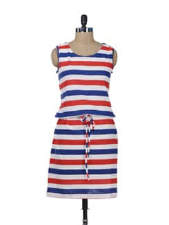 Cute Striped Dress - Color Cocktail