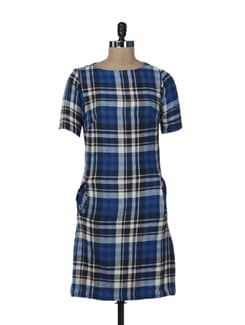 Stylish Checked Dress - Color Cocktail