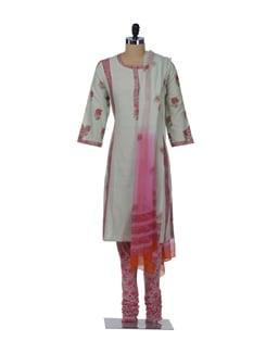 Designer Printed Floral Salwar-Kameez Set - KILOL