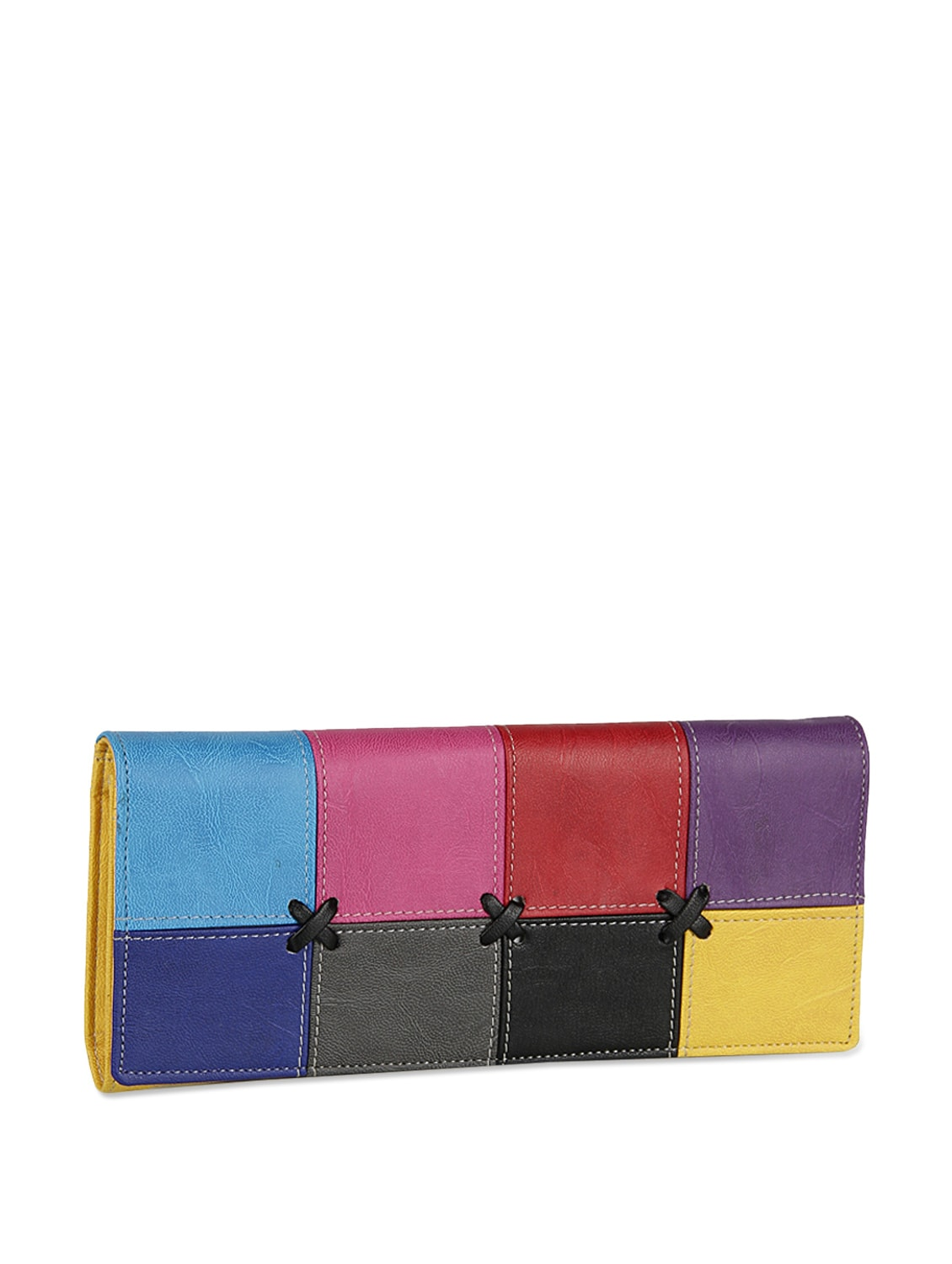 Multicoloured Patchwork Wallet - ALESSIA