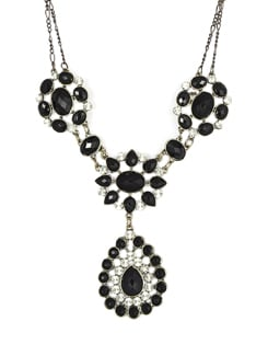 Black & Silver Party Necklace - F.A.D.