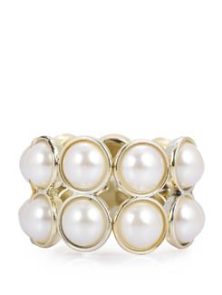 Layered White & Gold Pearl Bracelet - F.A.D.