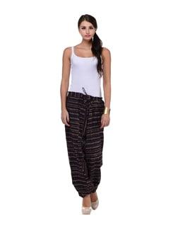 Striped Blue Harem Pants - Ashita