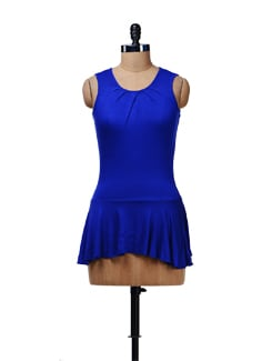 Electric Blue Peplum Top - Cottinfab