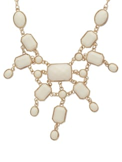 Stunning Statement Piece In White And Gold - Toniq