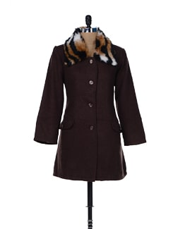 Fur Collar Coat - MARTINI