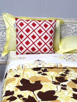 Leaf Print Double Comforter - HOUSE THIS