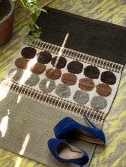 Circle Print Floor Rug - HOUSE THIS