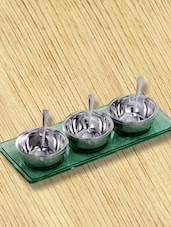 Silver Condiment Set - 10 Pieces - Awkenox