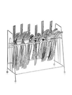 Silk Silver Cutlery Set - 25 Pieces - Awkenox