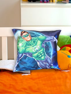 Cool Blue Lantern Cushion Cover - Warner Brothers By Mesleep