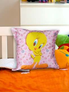 Crazy Cute Tweety Cushion Cover - Warner Brothers By Mesleep