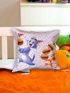 Tom And Jerry Cushion Cover - Warner Brothers By Mesleep