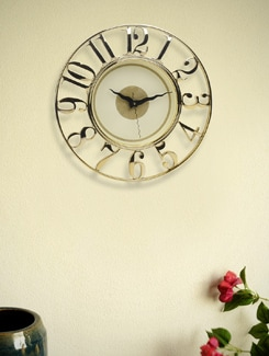 Luxurious Ivory And Golden Clock - BLACKSMITH