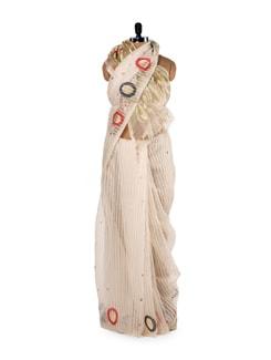 Jamdani Weave Gold-Tone Saree - Story Of Weaves