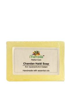 Anti-Bacterial And Anti-Oxidant Chandan Haldi Soap - IYurveda