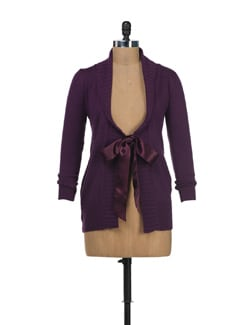 Jacket Style Purple Cardigan - SPECIES