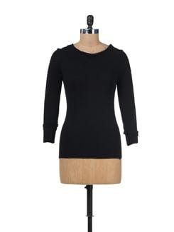 Black Broad Neck Pullover - SPECIES