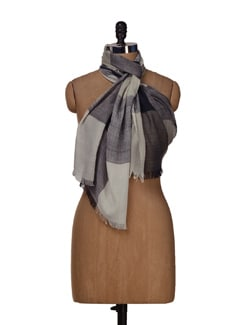 Checked Scarf In Black,White And Grey - HOS Designs