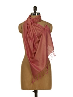 Hot Pink Scarf With A Hint Of Gold - HOS Designs