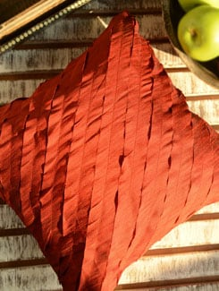Cut Work Cushion Cover- Maroon - Nakalchee Bandar