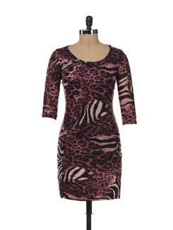 Wild Animal Print Trendy Dress - SPECIES