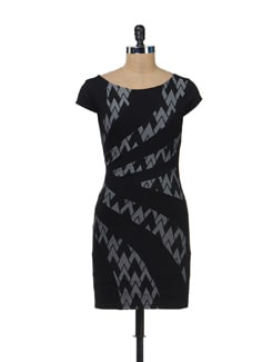 Printed Panelled Dress - SPECIES
