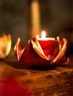 Rustic Red Rose Tea Light - Malhar