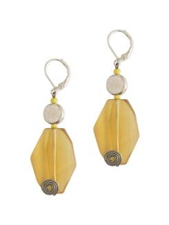 Yellow Glass Bead Earrings - Eesha Zaveri; Jewellery By Design
